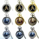 Vintage Star Trek Badge Pocket Watch Quartz Antique Necklace Pendant Retro Gift on eBay