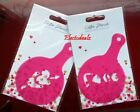 Double Pair Hearts Arrow & Love Stencils Coffee Pink Stencils Valentines Day New