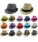 Gelante Unisex Summer Fedora Panama Straw Hats with Band Ship in a BOX