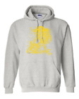 Gildan Hooded Hoodie Pullover Sweatshirt Sports Hockey Player Shadow Digital Yel