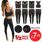 Womens Ladies Gym Yoga Sportswear Vest Sleeveless Crop Top Leggings Workout Suit