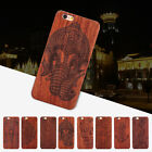 New Luxury Retro Natural Carved Wood Hard Case Back Cover for iPhone 6 6S 6Plus