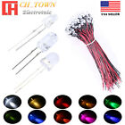 18mm 2mm 3mm 5mm 8mm 10mm White Red Blue RGB LED Assorted Light Emitting DIodes