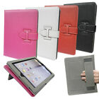 Stylish Leather Media Stand Case cover with Strap & Grip for Apple iPad 2, 3, 4