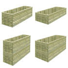 vidaXL Garden Planter Pot Basket Window Box Impregnated Pinewood Multi Sizes
