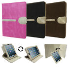 Suede Case Cover with Rotating Detachable Media Stand for Apple iPad 2, 3, 4