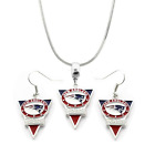 NFL New England Patriots Team Name & Logo Pendant 925 Necklace & Earring Set on eBay