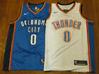 Russell Westbrook Oklahoma City Thunder Swingman Jerseys White Blue Stitched NEW
