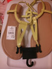 NWT Cato Summer Ladies Sandals Yellow Green Adjustable Back Strap