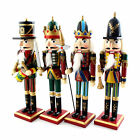 "12"" / 30cm WOODEN NUTCRACKER Soldier Vintage Walnut Toy Decoration+Carabiner S"