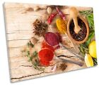 Herbs Kitchen Rustic Spices Picture SINGLE CANVAS WALL ART Print