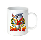 Coffee Cup Mug Travel 11 15 Oz Summer Surfing Surf Surf's Up Shark Board