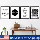 Quote Modern Art Canvas Posters Black&White Prints Wall Picture Home Decoration