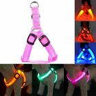 Dog Harness Nylon LED Pet Cat Dog Collar Harness Vest High Quality Safety Lighte