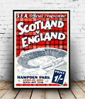 Scotland V  England: Vintage Programme Cover, Wall art ,poster, Reproduction.