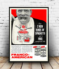 Franco  American : Vintage Magazine Advertising, Wall art ,poster, Reproduction.