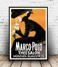 Marco polo Theesalon : Vintage  Advertising, Wall art , poster, Reproduction.