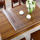 Non-slip Heavy Clear Tablecloth Table Cover Protector Scratch Proof Waterproof