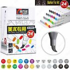 12 24 48 60 Color Sketch Marker Pen Soft Super Brush Broad Twin Tip Manga Ciao