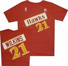 Atlanta Hawks Dominique Wilkins Adidas Throwback Tri Blend T Shirt