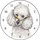 Miniature Poodle Dog Print Round Wall Clock - Available in 2 Designs