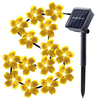 50 LED Solar String Lights Waterproof Flower Xmas Wedding Garden Home Decorative