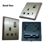 Wall Socket switches Brushed Gold Finish Screw less Neon Indicator 13A 1G/ 2G