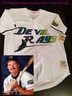 NEW Wade Boggs Tampa Bay Devil Rays Mens MN Home White Retro Jersey