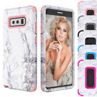 Hybrid Rugged Rubber TPU Shockproof Hard Marble Case For Samsung Galaxy Note 8