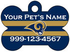 Los Angeles Rams Custom Pet Id Dog Tag Personalized w/ Name & Number $12.97 USD on eBay