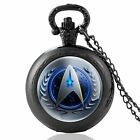 Steampunk Star Trek Badge Pocket Watch Quartz Antique Necklace Pendant Chain on eBay