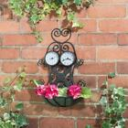 Beautiful Hanging 3-in-1 Planter (with Thermometer & Clock)