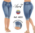 AREA 7 Capris Jeans Colombianos, Authentic Colombian Push Up Capri, Levanta Cola