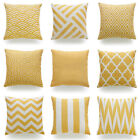 Decorative Pillow Case Mustard Yellow Geometric Fall Autumn Cushion Cover Khk