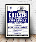 The Chelsea Chronicle   : Old football, poster, Wall art, poster, reproduction.