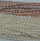 wholesale 10 strands rice shape natural pearl lots strings Q30171