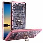 Samsung Galaxy Note 8 Case Luxury bling Diamond Women Cover Stand Holder Rose