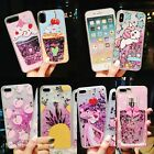 Pattern Painting Glitter Quicksand Liquid Back Soft Case Cover For Cell Phones