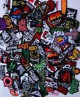 Random Lot of 20 Rock Band Patches Iron on Music Punk Roll Heavy Metal Sew