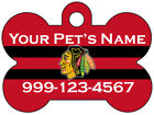 Chicago Blackhawks Custom Pet Id Dog Tag Personalized w/ Name & Number $9.97 USD on eBay