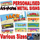 KIDS DOOR SIGN DINOSAUR PERSONALISED NAMES CHILDRENS PLAQUES BEDROOM DOORS GIFT