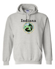 Gildan Hoodie Pullover Sweatshirt City State Country Indiana State Seal 2018