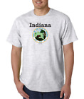 USA Made Bayside T-shirt City State Country Indiana State Seal 2018