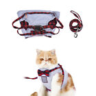 Soft Safety Outdoor Cats Vest Harness & Leash Set Grid Strap Lead Traction Rope
