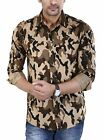 BASE 41 Men's Cotton Camouflage Army Print Full Sleeves Shirt