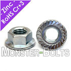 Внешний вид - Metric Zinc Hex Serrated Flange Lock Nuts DIN 6923 Class 8 - M4 M5 M6 M8 M10 M12