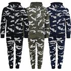 Kids Camo Dot Print Tracksuit Teens Jumper Joggers Boys Girls Top Bottoms 3-14 Y