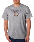 Gildan Short Sleeve T-shirt USA State Seal Virginia Home Sweet
