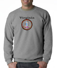Gildan Crewneck Sweatshirt USA State Seal Virginia Big