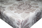 Large Abstract Brown Petals PVC Tablecloth Vinyl Oilcloth Kitchen Dining Table